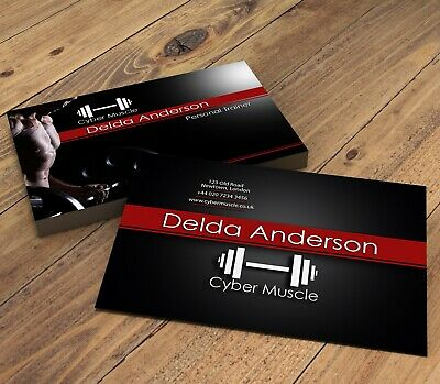 Personalised Personal Trainer & Ftiness Instructor Business Cards | Male Design