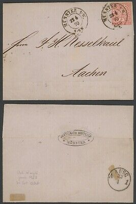 Germany North German Conf. 1870 - Cover Munster to Aachen