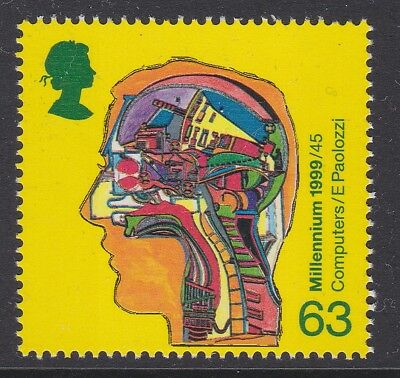 GB EII 1999 Inventors Tale 63p from booklet p13½ x 14 MINT sg2072a MNH