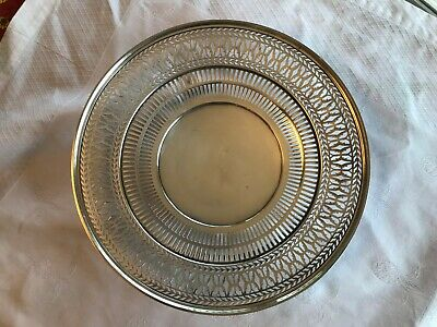 "Antique Sterling Silver Watson Co Reticulated Sandwich Plate Tray 9.5"" Stunning"