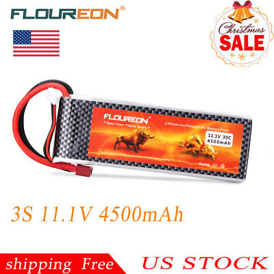 3S 11.1V 4500mAh 30C T Plug LiPo RC Battery For RC Car Truck Helicopter Airplane