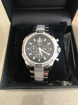 9a5992cee0dc4 MENS GUESS CHRONOGRAPH Watch Daytona Brand New With Tags & Box RRP $200  U0177G1