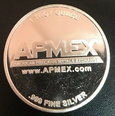 One Troy Ounce APMEX .999 Fine Silver Coin