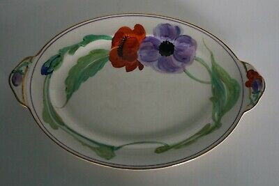 Grays Pottery - Free Hand Painted Floral Platter - 7500 c.1928 - Susie Cooper