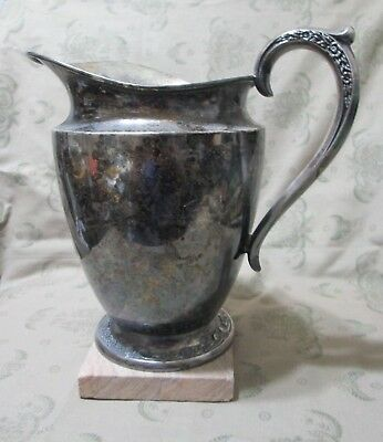 Water Pitcher Rogers Bros No 2817 Silver Plate