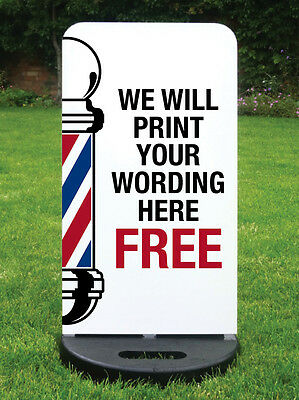 Barbers Pole Pavement Sign A Board Shop Sign Hairdressers Sign - Custom Printed