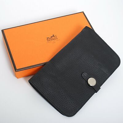 buy popular 9f470 56661 HERMES DOGON COMBINED Wallet Togo Leather Purse Card Holder with Box