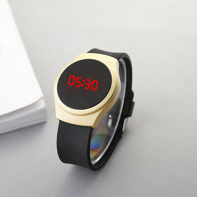 Gold LED Digital Watches Bracelet Children Women Watch Men Electronic Wristwa...