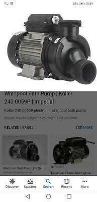 Koller Whirpool Bath Pump