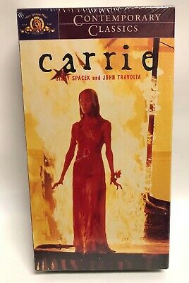 Stephen King's CARRIE VHS SEALED Tape 1976 Spacek / Travolta Horror