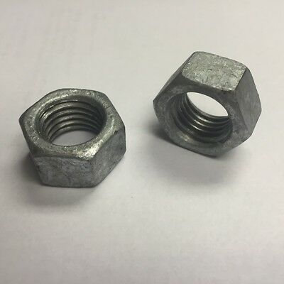 1/2-13 NC Hex Nuts Hot Dipped Galvanized 100 count box