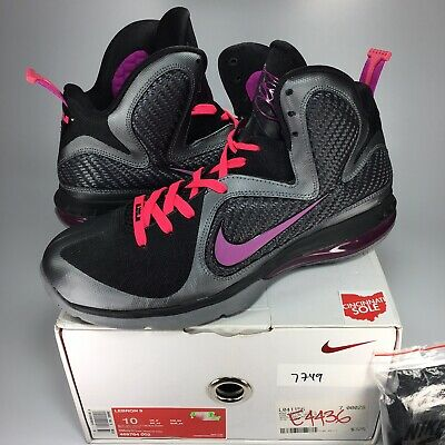 pretty nice e8286 7c21a Nike LeBron 9 Miami Nights Size 10 VNDS black purple 469764-002 white 6 7