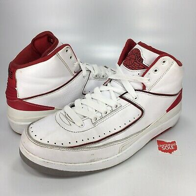 fe4126d59c9aef Jordan 2 Varsity Red Size 9.5 nike air retro chicago home 385475-102 10  white