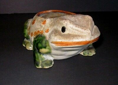 Vintage Studio Pottery Ceramic Frog Toad Planter