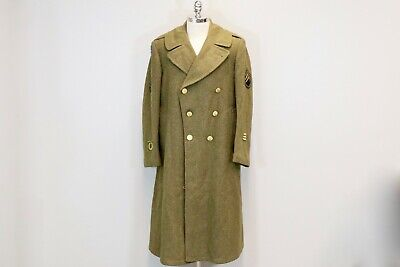 1cb227ffe49 Original US WW2 USARPAC Trench Coat with Service Bars U.S. Army Pacific  Jacket