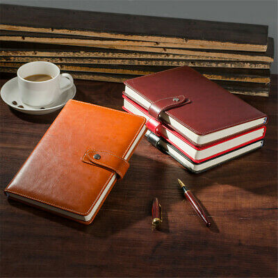 PU Leather Cover Vintage Journal Notebook Lined Paper Diary Planner with Buckle