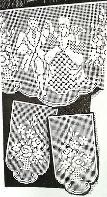 c7f26454bd14 7387 Vintage Alice Brooks FILET COUPLE Pattern to Crochet (Reproduction)