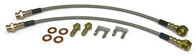 "Disc Brake Conversion Brakes Hoses, Stainless, Front, 7/16"" Banjo"