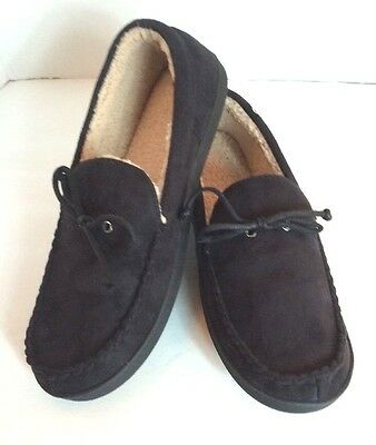 ebe4630913d Isotoner Signature Black Moccasin Memory Foam Moccasin Slippers Mens XXL  13-14