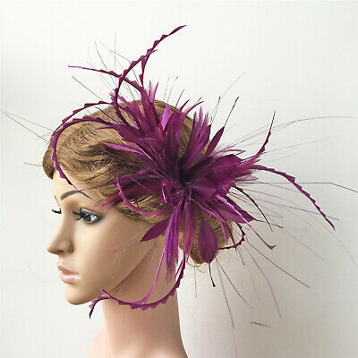 Goose Biot Twisted Mount Peacock Hackle Feather Millinery Hats Fascinator Crafts