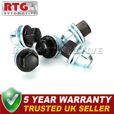 5x Black Wheel Nuts + Washers For Discovery + Range Rover 22mm Hex Shop Soiled