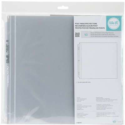 "We R Memory Keepers Post Page Protectors 12""X12"" 10Pk Full Page 660151"