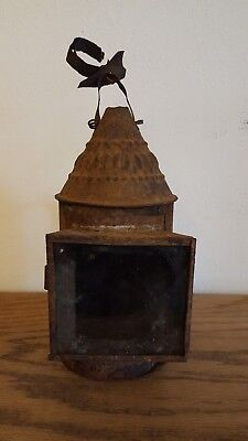 Antique Early 19th Century Tin Lantern With Handle