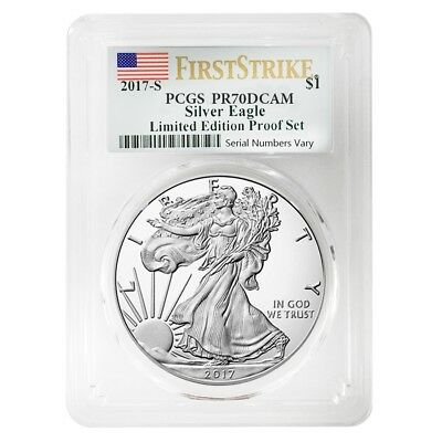 2017 S 1 oz Proof Silver American Eagle Limited Edition PCGS PF 70 FS