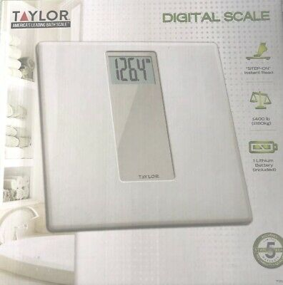 Taylor High Weight 400 lb Capacity Digital Scale White