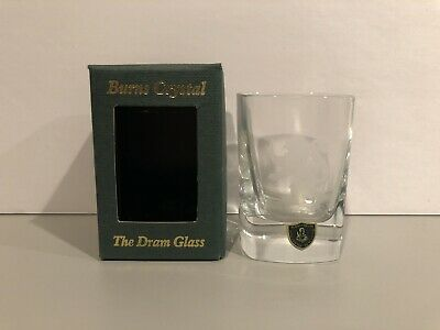 Burns Crystal The Dram Glass Handcrafted Made In Scotland Very Rare Brand New!