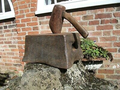 Ancient French File Cutter's or Sawyers Blacksmith Anvil Wrought Iron 41 Lbs