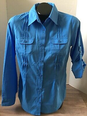 70e0fa15 WOMENS COLUMBIA BUTTON Up Sun Protection Shirt Size Small - $9.99 ...