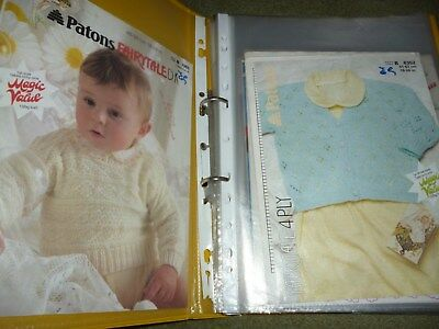 Over 50 knitting patterns babies and children complete with folder