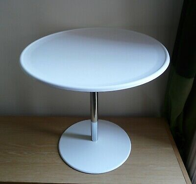 Retro Bagasse Products White Occasional Side Coffee Table by Alan Turville 1960