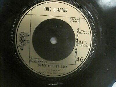 "ERIC CLAPTON Promises/Watch Out For Lucy 7"" 1978 RSO UK freeUKpost"