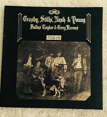 "Crosby Stills Nash & Young Deja Vu SD 7209 Atlantic Record LP 12"" 1970 33 RPM"