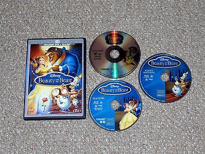 Disney's Beauty and the Beast Blu-ray/DVD Combo 2010 3-Disc Set Diamond Edition