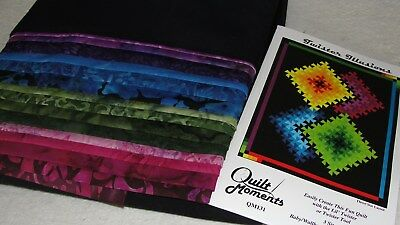 TWISTER ILLUSTIONS Quilt Kit by Quilt Moments 51x63""