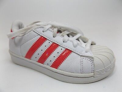 competitive price 09521 67ce3 adidas Originals Kids Superstar Sneaker, Girl s Size 11.5 K, White Pink  D9453