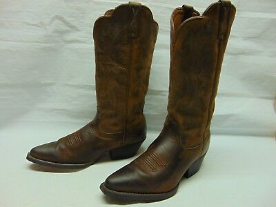 fdc3f9d870d TWISTED X WOMENS 6.5 C Brown Oiled Leather Snip Toe Cowgirl Riding Western  Boots