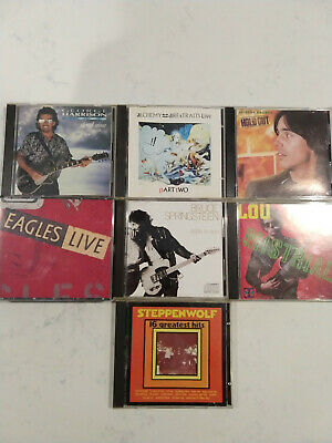 CD Lot Classic Rock Springsteen, Harrison, Dire Straits, Steppenwolf, Eagles