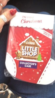 Coles Christmas Little Shop Collector Case Only