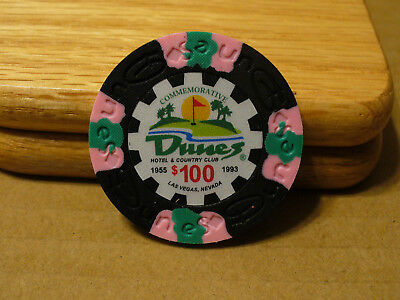 Dunes Poker Chip $100 Commemorative 9 gram Clay Composite NEW - FREE SHIPPING