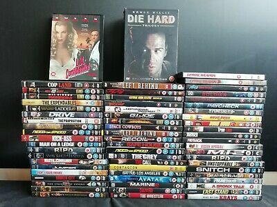 64 x Action DVD's - Die Hard Trilogy, Lethal Weapon, Rush Hour 2 & more (E705)