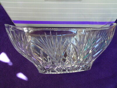 """Marquis By Waterford Crystal Large 11"""" Newberry Oval Bowl 40015419 New In Box"""