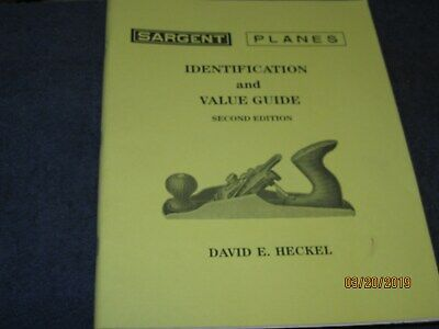 BOOK --  SARGENT PLANES - IDENT. + VALUE   by  DAVID E. HECKEL --104 pgs.