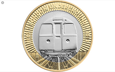 Two Pound Coin - London Underground Train £2 - Uncirculated coins
