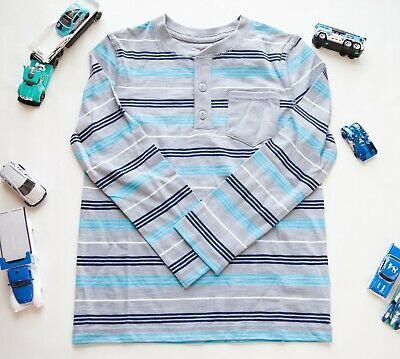 **Boys Size 18M Cat & Jack Long Sleeve Striped Shirt with Pocket New With Tags!