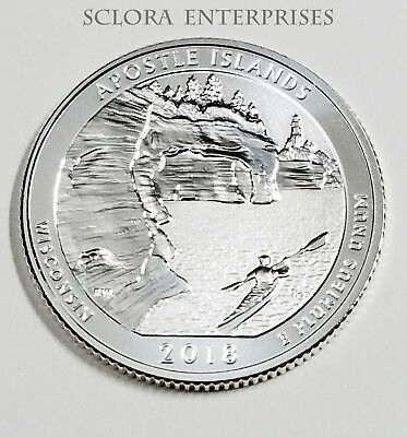 2018 S Apostle Islands  *90% Silver Reverse Proof* Atb Quarter **free Shipping**
