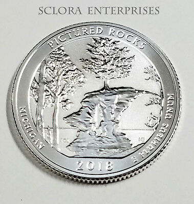 2018 S Pictured Rocks  *90% Silver Reverse Proof* Atb Quarter **free Shipping**